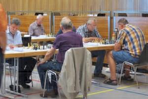Peter Hurst gegen Walter Wolf und Rudolf Müller gegen Dieter Villing
